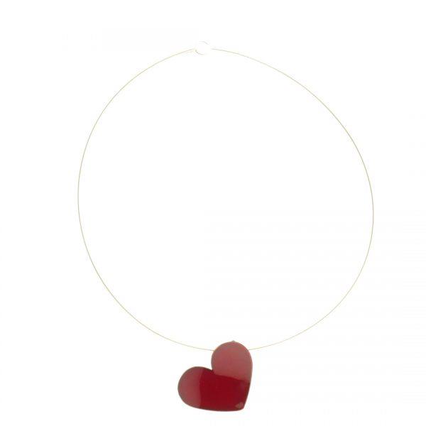 Collartz Colgante Corazón de Plata y Cobre Esmaltado Grande 3