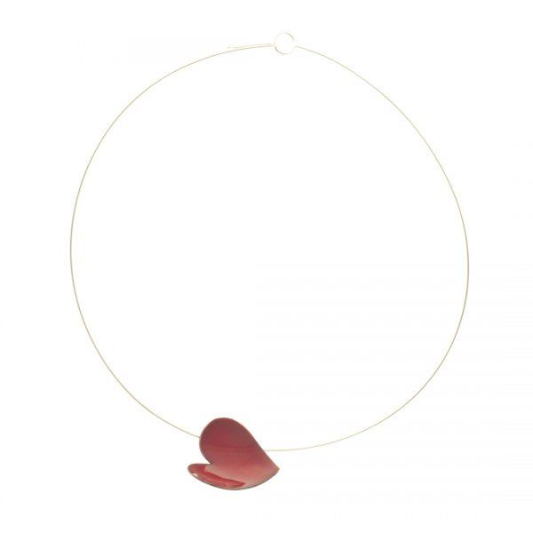 Collartz Colgante Corazón de Plata y Cobre Esmaltado Grande