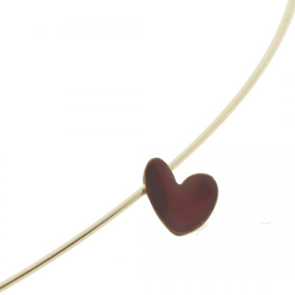 Collartz Mini Red Heart Pendant Enameled Copper Cuore 2