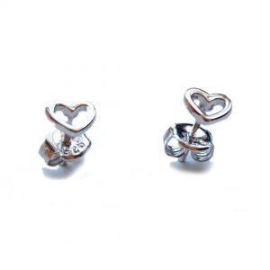 Collartz Pendientes de Plata Minimal Corazón