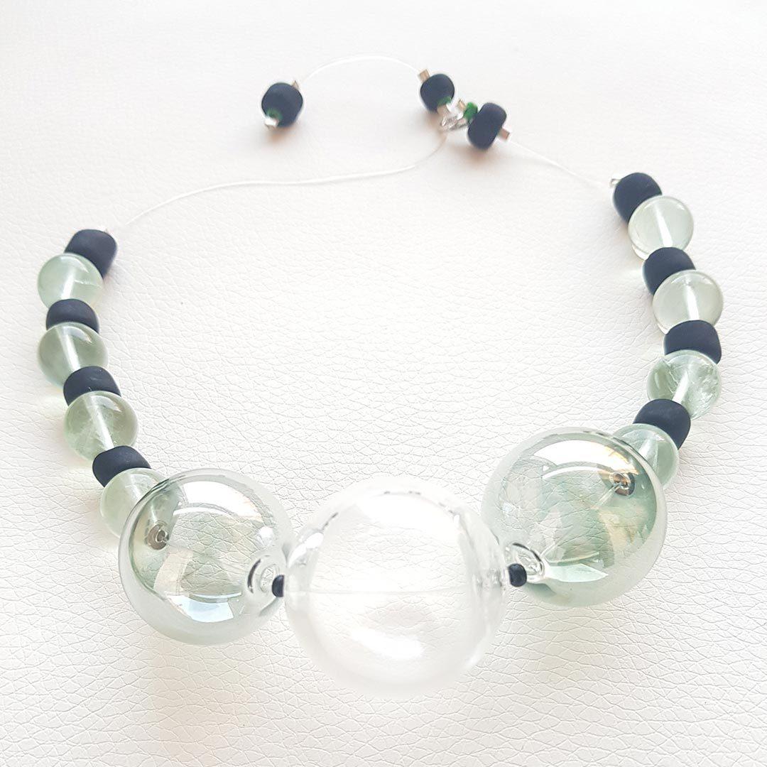 ca47a6619041 Collar de Cristal de Murano  Soffio di Vento Bosa - Collartz