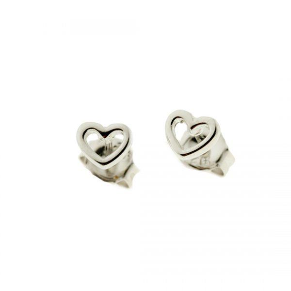 Collartz Pendientes de Plata Minimal Corazón 2