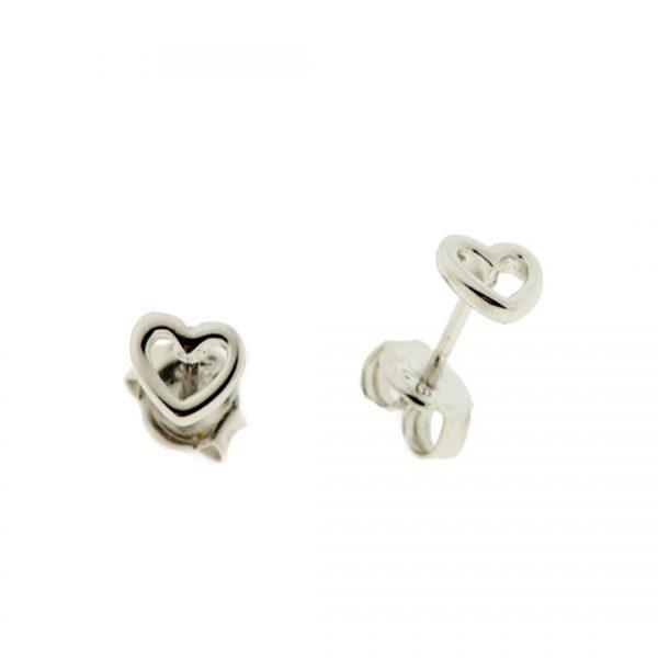 Collartz Pendientes de Plata Minimal Corazón 3