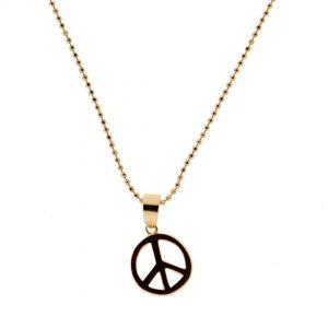 Collartz Cadena de Plata Oro Rosa Peace 3