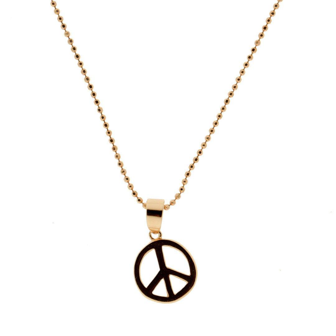 68216094d54d Cadena de Plata Oro Rosa Collartz Essential Peace - Collartz