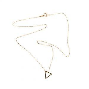 Collartz Cadena de Plata Minimal Oro Rosa Triangle 2