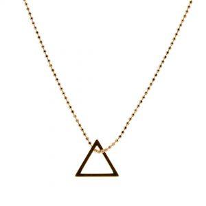 Collartz Cadena de Plata Minimal Oro Rosa Triangle 1