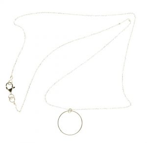 Collartz minimal Silver chain with a circle charm 3