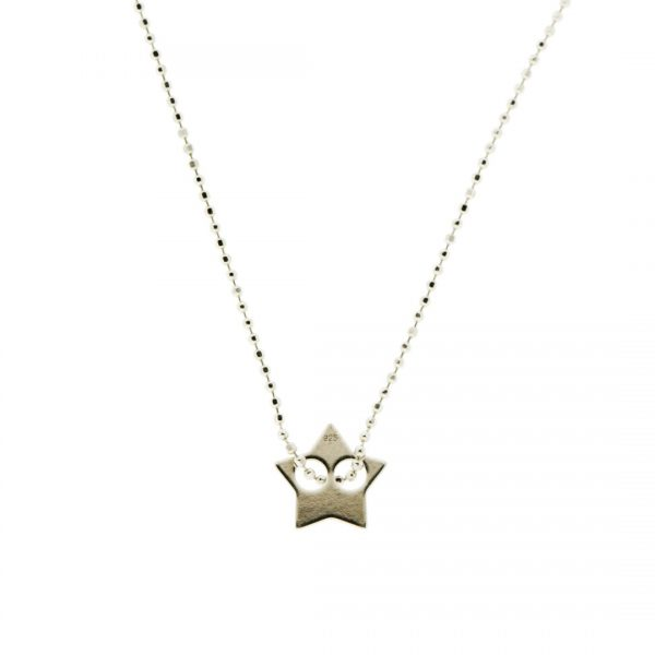 Collartz-minimal Silver Chain with a star pendant 1