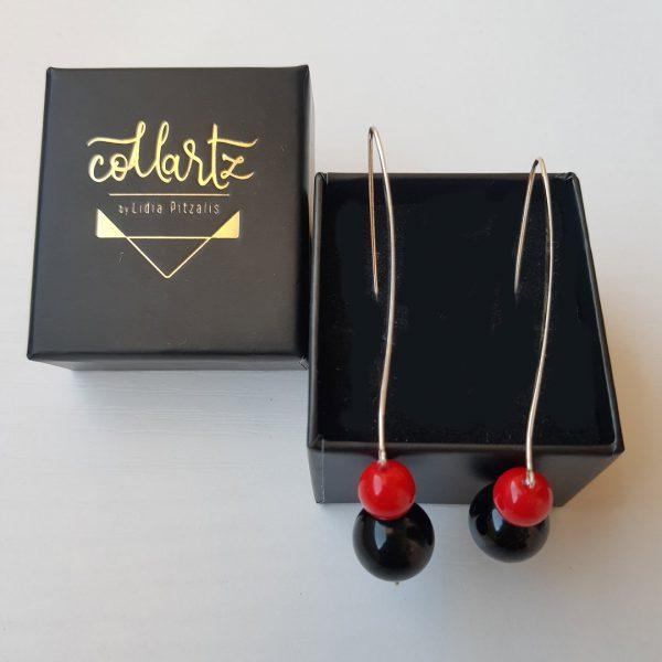 Collartz Pendientes Lava Rossa Gloss Caja