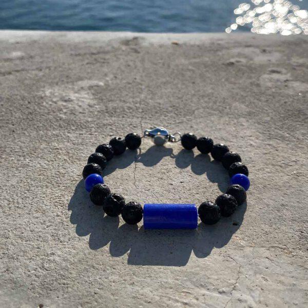Pulsera-Gotas-de-Lava-Azul-3