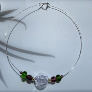 Silver and Cristal Choker Sunrise 4